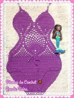 * Pérolas do Crochet: Body/Maiô de croche infantil