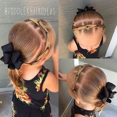 All of these hairstyles are all fairly simple as well as are great for newbies, quick and easy toddler hair styles. Black Toddler Girl Hairstyles, Easy Toddler Hairstyles, Girls Hairdos, Cute Little Girl Hairstyles, Teenage Hairstyles, Baby Girl Hairstyles, Princess Hairstyles, Pretty Hairstyles, Easy Hairstyles