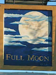 Full Moon pub sign - Cholesbury, England