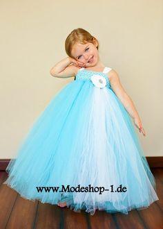 Hell Blaues Tütü Mädchenkleid