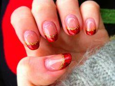 Christmas 2011  my nails done at Speed Nail Umeda, Osaka Japan