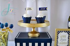 Navy & gold party