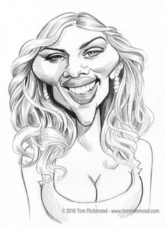 Scarlett johansson cartoon drawings of people, caricature drawing, celebrit Funny Caricatures, Celebrity Caricatures, Celebrity Drawings, Cartoon Drawings Of People, Cartoon Art, Drawing People, Cartoon Faces, Character Design Animation, Character Drawing