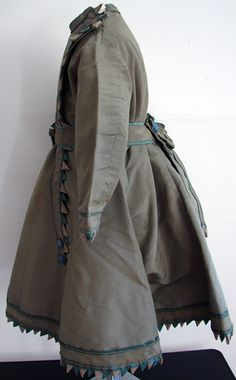 Maria Niforos - Fine Antique Lace, Linens & Textiles : Antique Christening Gowns & Children's Items # CI-81 Circa 1860, Rare Dress w/ Scallops