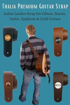 Thalia Premium Straps are made of imported Italian Leather and available for Gibson, Martin, Taylor, Epiphone & Guild Guitars. Also guitar strap available with customized engraving and different logo inlays. Indie Music, Folk Music, Guild Guitars, Guitar Songs For Beginners, Guitar Reviews, Guitar Gifts, Guitar Sheet Music, Guitar Tutorial, Guitar Accessories