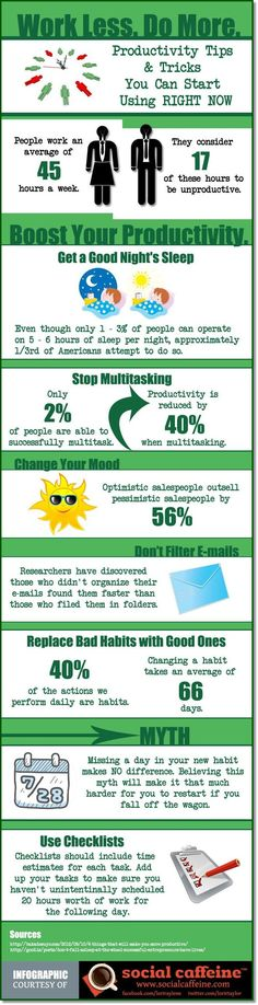 10 Tips To Boost Your Productivity - Infographic