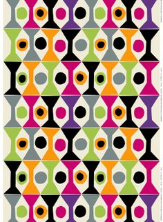 Coctail fabric / Design by Jenni Tuominen for Marimekko / Marimekko S/S 14