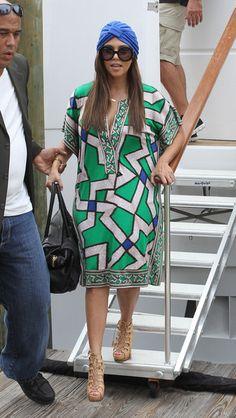 Kourtney Kardashian in DVF