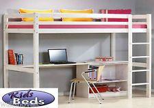 Bunk Bed with Mattress Loft Bunk Workstation Computer Desk Office 2ft6 x 5ft3