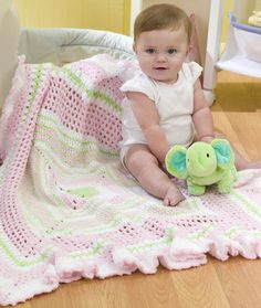 Ruffled Granny Baby Blanket Crochet Pattern | Red Heart I like this one quite a bit