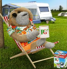 Monkey on summer holiday