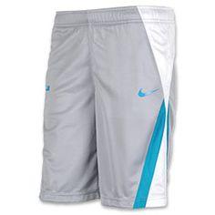 Kids' Nike LeBron Excel Basketball Short| FinishLine.com | Black/Grey/Red