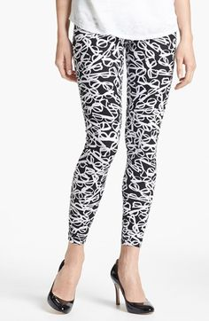 kate spade new york 'literary glasses' leggings (Online Exclusive) available at #Nordstrom
