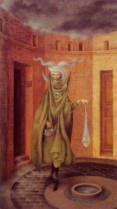woman leaving the psychoanalyst's office - remedios varo - 1960 - Museo de Arte Moderno INBA, Mexico