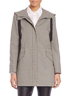 RED Valentino - Houndstooth Hooded Anorak