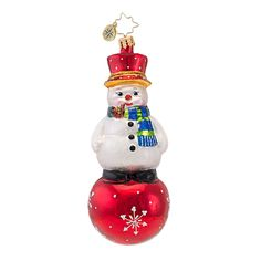 Christopher Radko Ornaments 2014 | Radko Snowman Ornament Snow and Behold