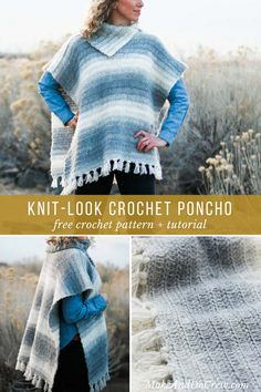 A combo of half double crochet and slip stitches make for a knit-looking