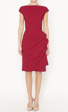 Le Petite Robe di Chiara Boni Maroon Dress-in teal would b nice! Stunning Dresses, Beautiful Outfits, Cute Dresses, Dresses Dresses, Girl Fashion, Fashion Looks, Fashion Outfits, Womens Fashion, Cool Style
