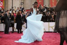 Lupita's gorgeous gown. Perfection!
