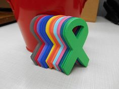 Awareness Ribbons Die Cuts Cardstock by MyThreeSonsByKristin, $3.50