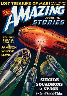 Classic Sci-FI Magazine Cover