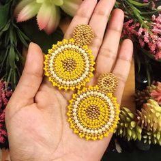 Your place to buy and sell all things handmade Paper Earrings, Red Earrings, Seed Bead Earrings, Beaded Earrings, Seed Beads, Beaded Jewelry, Crochet Earrings, Statement Earrings, Embroidery Jewelry