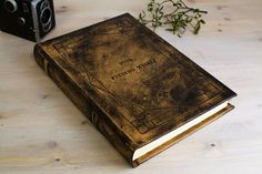 Big leather journal & guestbook, One of a Kind 🌿