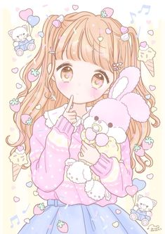 Image shared by 𝐆𝐄𝐘𝐀 𝐒𝐇𝐕𝐄𝐂𝐎𝐕𝐀 👣. Find images and videos about fashion, cute and beautiful on We Heart It - the app to get lost in what you love. Cute Kawaii Girl, Loli Kawaii, Anime Girl Cute, Kawaii Chibi, Kawaii Anime Girl, Kawaii Art, Anime Art Girl, Anime Girls, Wallpapers Kawaii