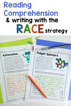Get resources for teaching reading comprehension skills with passages and multiple choice comprehension questions. Practice text-based short response questions with the RACE Strategy at the same time! Click here for resources.