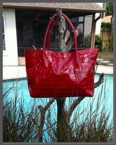 Red Tote...Great for traveling!