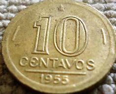 moedas brasileiras antigas 1950 a 1959 1950, World Coins, Coin Collecting, Bronze, Silver, Vintage, Awesome Things, Hanging Medals, Past