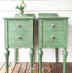 Furniture Season. Green Painted ...
