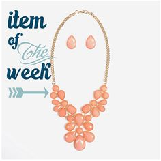 Our Peach Floral Bib is the perfect necklace for any season. Set includes gorgeous teardrop earrings to match! Get yours at Urban Peach Boutique