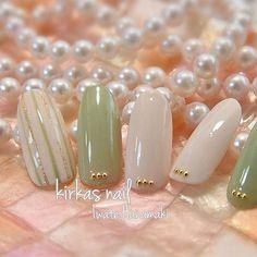 春だから、優しい若草色で。kirkas nail ご予約 09031260505ホームページ http://kirkasnail.jp/公式LINE @auv5963eアメブロ...|ネイルデザインを探すならネイル数No.1のネイルブック