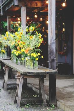 Flower Farm, Outdoor Furniture, Outdoor Decor, Beautiful Flowers, Dining Table, Inspiration, Antiques, September, Home Decor