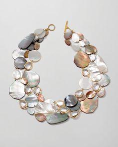 Ondine Triple-Strand Pearl/Quartz Necklace