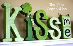st. patricks day idea. Don't like the vinyl font, but my cricut can fix that problem.