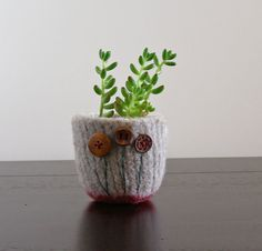 a charming little felted pot