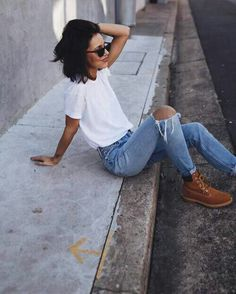 jeans and white tshirt
