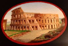 FINE DETAILED ROME COLISEUM ANTIQUE MICRO MOSAIC PAPERWEIGHT Micro mosaic | eBay