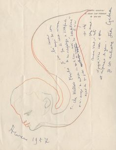 Letter from Jean Cocteau to Wallace Fowlie, 1957. From the Wallace Fowlie Papers.