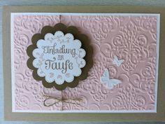 Baby Cards The baptismal package ., Baptism invitation, SU, Stampin Up! Christening Invitations, Kids Birthday Cards, Diy Scrapbook, Paper Cards, Stamping Up, Baby Cards, Invitation Cards, Making Ideas, Are You Happy