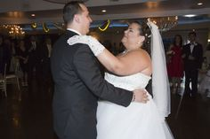 Christina and Juan share their first dance. At the Royal Fiesta in Deerfield Beach. Photo by Joel Black of Let's Party Photography.
