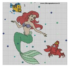 Schema ariel punto croce the little mermaid, ariel, cross stitching, cross stitch patterns Disney Stitch, Lilo E Stitch, Stitch Doll, Disney Cross Stitch Patterns, Counted Cross Stitch Patterns, Cross Stitch Charts, Cross Stitch Designs, Cross Stitch Embroidery, Cross Stitch Family