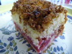 Rhubarb Crunch Cake