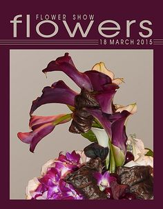 FLOWER SHOW FLOWERS www.FlowerShowFlowers.com TIPS, PICS, MAGAZINE and HELPFUL HINTS 18 March 2015… A Year in Flowers PLANT LIST: Dendrobium Orchids, Calla Lilies & Begonia foliage