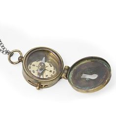 Vintage Compass Necklace-that's so cool!!