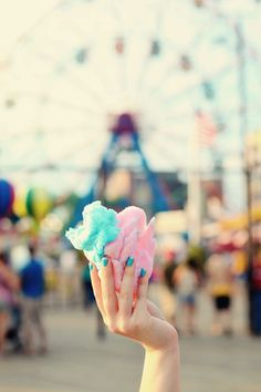 cotton candy! love the ferris wheel in the background too