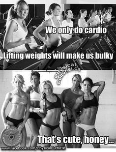 Don't be afraid to hit the free weights, ladies!