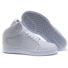 White High Top Shoes Supra Society Mid Top Patent Leather